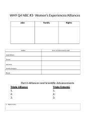 WH9%20Q4%20NBC%20#3 Womens Experiences_WWI Alliances