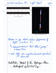 CH105 Lecture 30 Light Continued