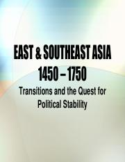 EAST ASIA 1450 - 1750