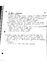 Film Unfinished Class Notes
