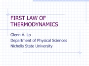 06 First Law of Thermodynamics, revised 2-6-13