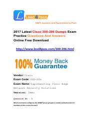 Latest Cisco 300-206 Exam Questions And Answers Free Try.pdf