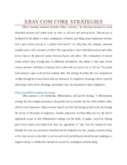 ebay core strategies