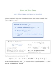 3-Ratio, Root Tests