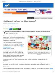 Could yogurt help lower high blood pressure_ - Medical News Today.pdf