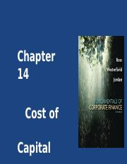 CHAPTER 14 - COST OF CAPITAL