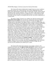 dbq american revolution essay