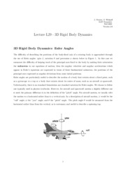 L29 3D Rigid Body Dynamics