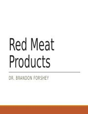 Lecture 3 - Red Meat Products