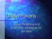 Week 05 Urban Poverty