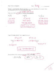 Math 115 Exam 3 Key on Algebra