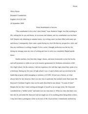 Sequence 1 essay, how you write