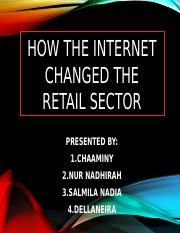 How internet change in retail sector