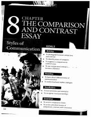 Chapter 8 - The comparison and Contrast essay
