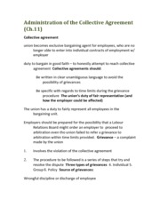 COMM 392 Administration of the Collective Agreement