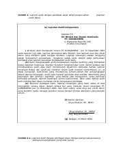 Contoh Laporan Audit Wajar Tanpa Pengecualian Dengan Paragraf Penjelasan