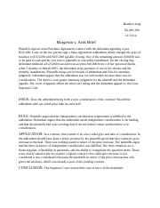 Margeson v. Artis Brief