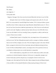 Research Paper: Rough Draft