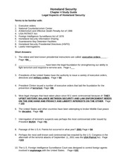HS Ch 04 Study Guide Legal Aspects of Homeland Security(1)