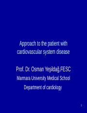Approach to the patient with cardiovascular system disease-Osman