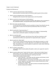 Chapter 14 & 15 Worksheet