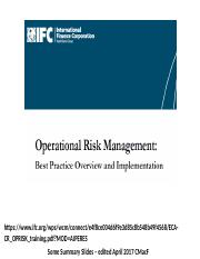 Session 9b IFC World Bank Operational Risk