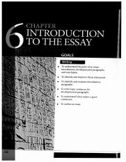 Chapter 6 Introduction to the Essay (Refining Composition Skills)