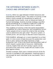 THE DIFFERENCE BETWEEN SCARCITY,CHOICE AND OPPORTUNITY COST.docx