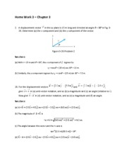 Home Work 3 Solutions