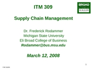 ITM Ch 8 Supply Chain Managment