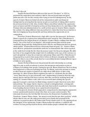 Richard nixon checkers speech essay