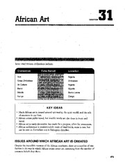 Chapter 31 African Art AP Art Study Guide