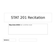 STAT 201 Normal Approximation