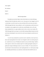 Object Essay