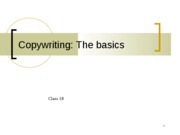 copywriting the basics ppt