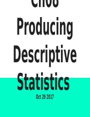 Ch08 Producing Descriptive Statistics.pptx