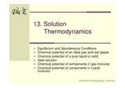 13-Solution thermodynamics