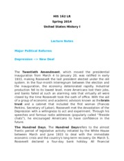 HIS162 Political Reforms study notes