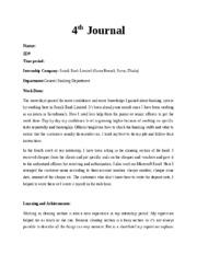 BUS 498 : internship - নর্থ সাউথ