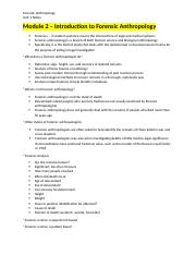 Notes Unit 1 - Human Osteology and Forensic Archaeology.docx