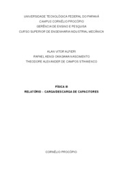 Relatorio Carga e Descarga de Capacitores
