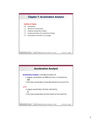 Dynamics of Machines - Chapter 7 Slides - Acceleration Analysis