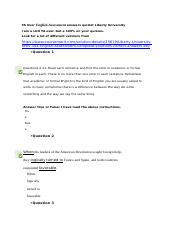TA User English Assessment answers quizlet Liberty University.docx