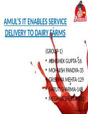 Group 9_Amul's IT enabled Services.pptx