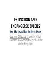 Lecture 5 Extinction Engagered Spp