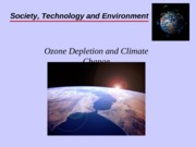 Wk10 Ozone Depletion and Climate Change