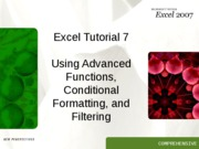Excel 7 tutorial