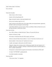 class notes- Dante's Inferno background info