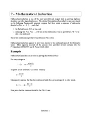 07 Mathematical Induction