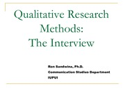 Qualitative Research The Interview